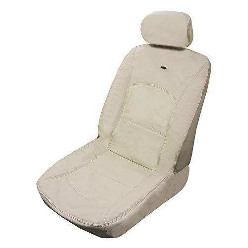 (Masque 63015 Luxurious Leather Seat Cover - Manhattan Beige)