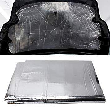Uniqus Car Hood Engine Noise Insulation Cotton Heat Waterproof Self Adhesive Car Heat Sound Insulation Cotton, Size  1m x 1.4m x 5mm