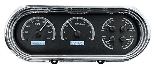Dakota Digital 63 64 65 Chevy Nova Analog Dash Gauges Black Alloy White (Chevy Nova Dash)