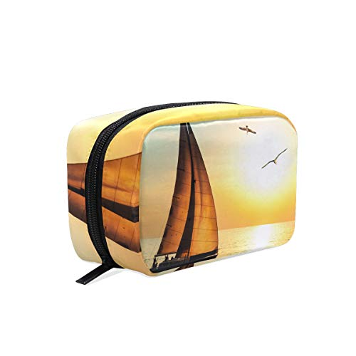 Cosmetic Bag Sail-Boat Girls Makeup Organizer Box Lazy Toiletry Case