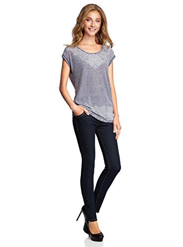 Skinny Taille Ultra 7900w Jean oodji Femme Haute Bleu qwvttAId