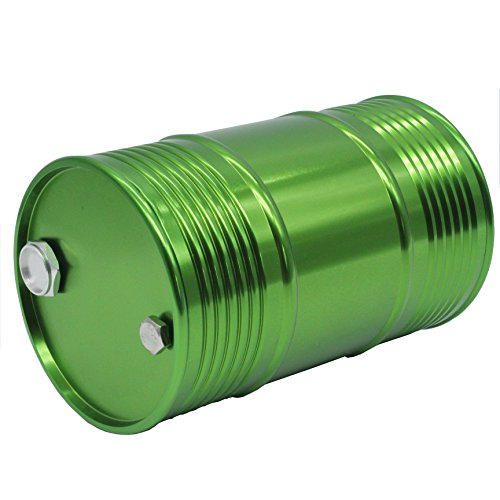 LAFEINA Metal Oil Drum Fuel Tank Container for 1/10 RC4WD D90 SCX10 Rock Crawler RC Car Decor Parts (Green)