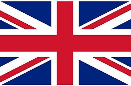 Q&J Bandera Oficial del Reino Unido - Medidas 150 x 90 cm. - 100% Polyester para Exterior e Interior: Amazon.es: Jardín