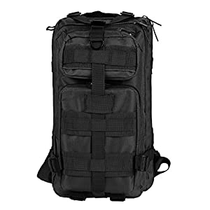 Oxford Camping Waterproof Multifunctional Hiking Bag Military Backpacks (Black)
