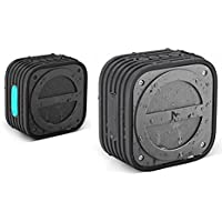 MVMT Cube Portable Wireless and Water Resistant Bluetooth Speaker (Charcoal/Silver Theme)