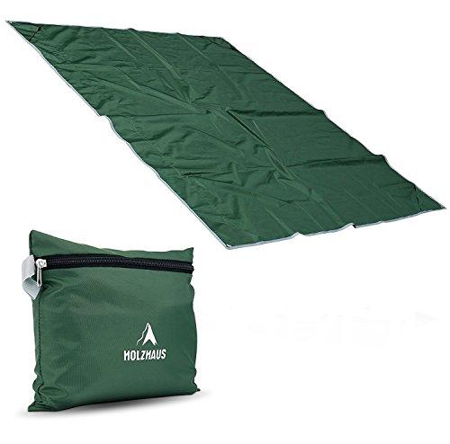 Holzhaus Wasserdichte Picknickdecke Campingdecke mit Integriertem Beutel, Größe: 200 x 160 cm, Grün