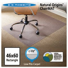 Natural Origins Chair Mat For Carpet, 46 X 60, Clear By: ES Robbins by Office Realm