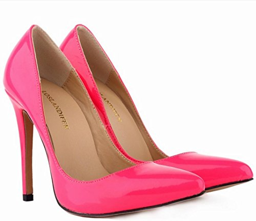 party Pointed 37 yards leather shoes heels female high Patent heels dress 42 high shoes ZCH wedding banquet large wTqOXB7