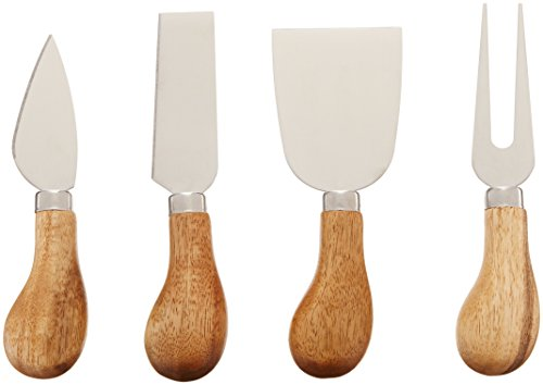 Rustic Farmhouse Gourmet Cheese Knives and Serving Tools by Twine – (4 Cheese ()