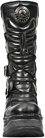 Newrock New Rock M.SP9873-S1 SCHWARZ Damen Trail Gothic Rock Punk Leder Stiefel