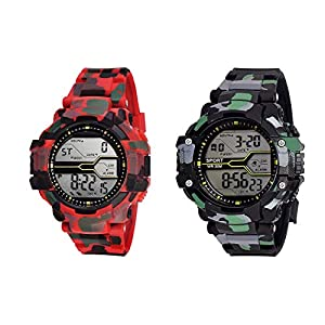 SQUIRRO Digital Army Watches for...