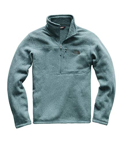 The North Face Blue Fleece - The North Face Men's Gordon Lyons 1/4 Zip Storm Blue Heather Small