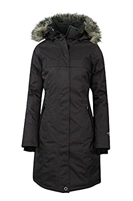 Columbia Women's Flurry Run Down Long Omni Heat Jacket Coat Hooded Parka