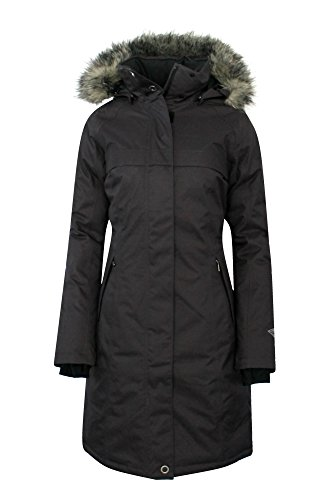 COLUMBIA Womens Flurry Run Down Long Omni Heat Jacket Coat Hooded Parka ()