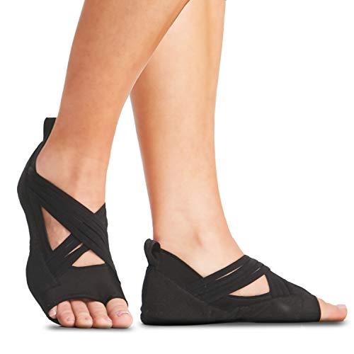 Gaiam Yoga Socks - Grippy Studio Wraps   Non Slip Grip Accessories for Standard or Hot Yoga, Barre, Pilates, Ballet or at Home for Women & Men, Black