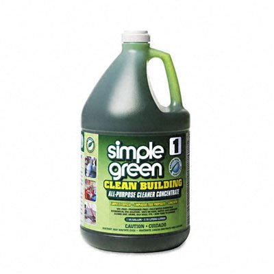 Simple Green 11001CT Clean Building All-Purpose Cleaner Concentrate, 1gal Bottle (Solution 1 Gallon Bottle)