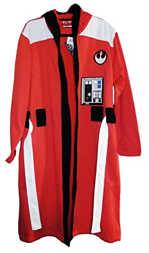 REBEL ALLIANCE Orange Fleece BATHROBE