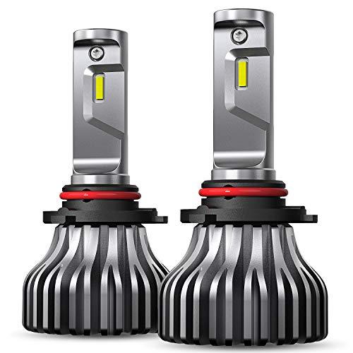AUXITO-9005 LED Headlight Bulb 6000K Xenon White 8000Lumens Bright HB3 9005 Fan-less Headlamp Fog Light Bulbs Conversion Kit,Pack of 2