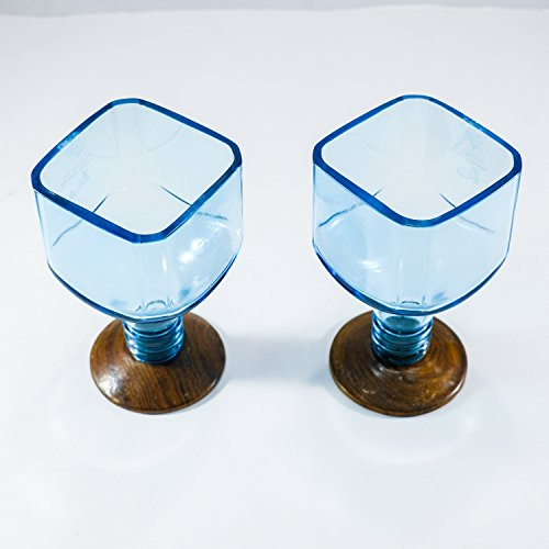 Succulent Planter/Brandy Cocktail Glasses made from Bombay Sapphire ()