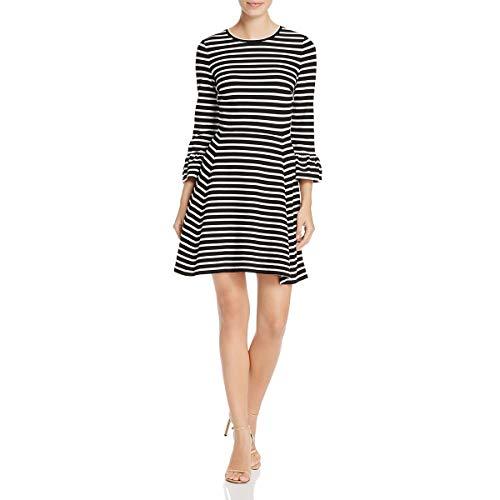 Kate Spade Womens Broome Street Striped Casual Dress Black-Ivory M