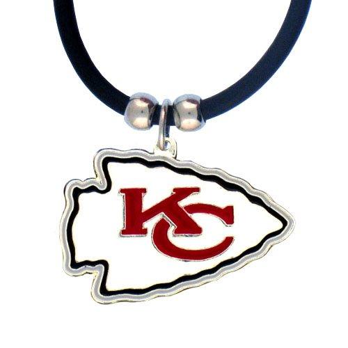 - NFL Kansas City Chiefs Rubber Cord Logo Necklace