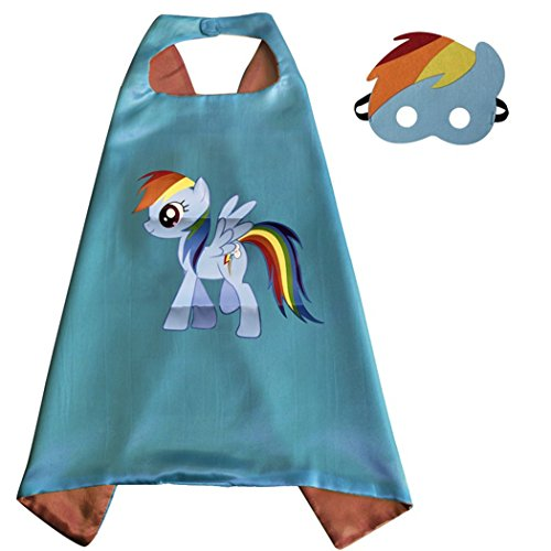 My Little Pony Costume For Boys (Rainbow Dash Costume Superhero Capes with Masks for Kids, Girls My Little Pony Birthday Party Favors, Dress Up & More)