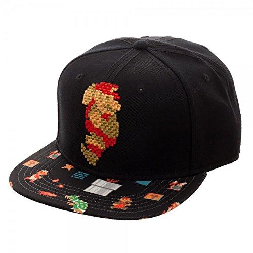 [Nintendo Super Mario 8Bit Sublimated Bill Snapback Hat] (One Up Mushroom Costume)