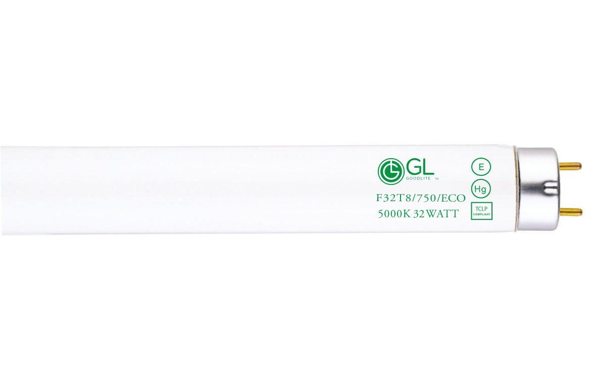 Goodlite G-20226 F32T8/750/ECO  Straight 32 Watt 48-Inch Inch T8 Fluorescent Tube Light Bulb Super White 5000k, 30 Pack