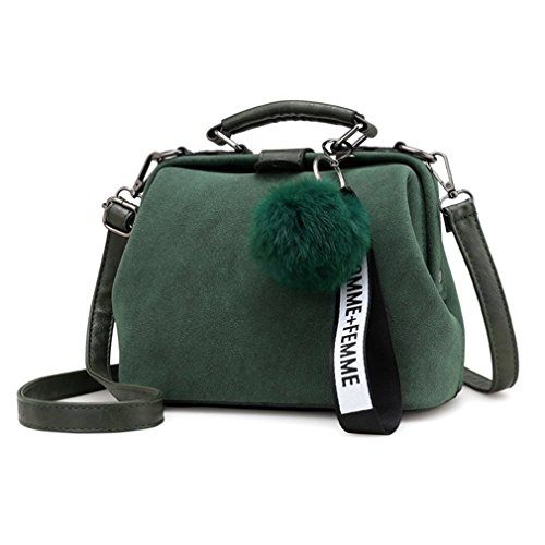 Tassel Bags Women Shoulder Messenger Handbag Doctor PU Brown Bags Vintage kaoling Crossbody Green Leather Yq5UR