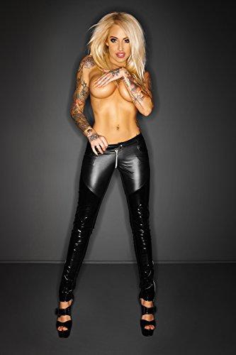 Para mode Mujer Negro Pariser Pantalón SxqZ8cw7w0