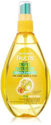 Garnier Fructis Triple Nutrition Miracle Dry Oil for Hair, Face, and Body, 5 Fluid Ounce