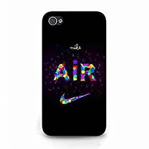 Nike Air Just do it Sports Brand PhilKnight Plastic Case,The Logo of Nike Caja del teléfono celular Funda,Iphone 4(S) Protective Cover