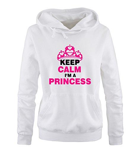 xl Cappuccio Princess Nero Calm Shirts Sweater fucsia S A Taglia Keep Comedy Vari Hoodie Colori I´m Bianco Donna XSqw7w8a