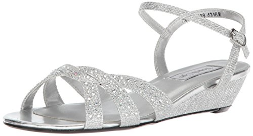 (Touch Ups Women's Lena Wedge Sandal, Silver, 11 M US)
