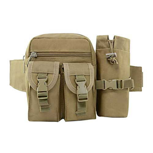 Kangma Outdoor Sport Waist Packs Vintage Shoulder Bag Frayed Style Satchel Camouflage Travel Messenger -