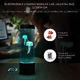 Jellyfish Lamp LED Fantasy Lava Lamp 20 Color