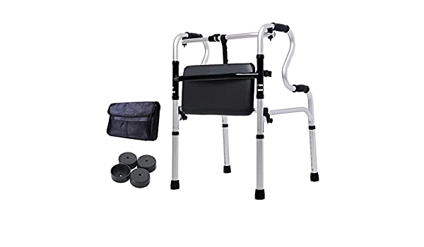 ZYDSD Andador Ancianos Walker Wheeled Walker S-Type Doble ...