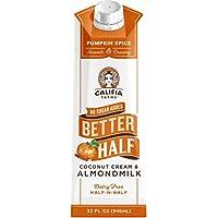 Califia Farms - Pumpkin Spice Better Half Coffee Creamer, 32 Oz | Half and Half | Coconut Cream and Almond Milk | Non…