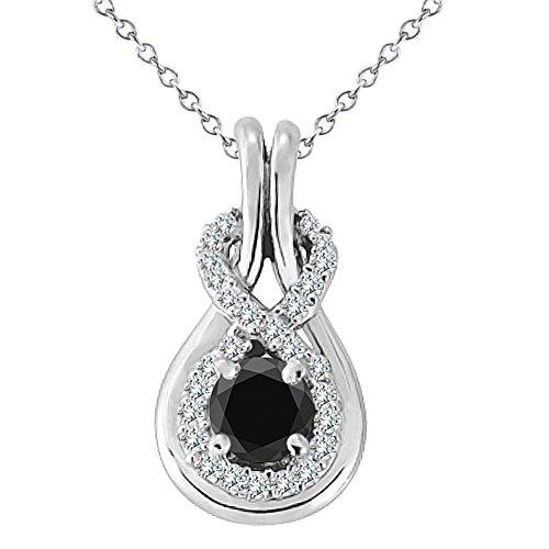 14k White Gold Diamond Knot - 9