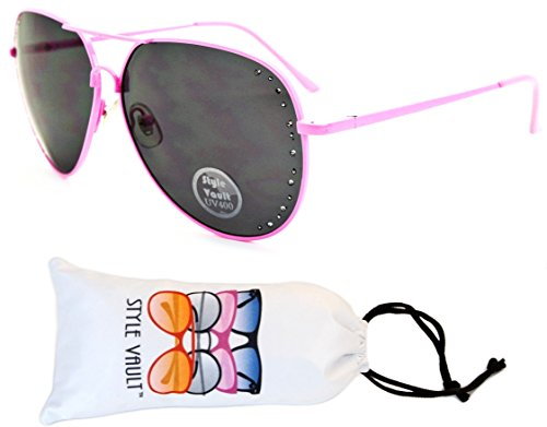 Av30-vp Aviator Pilot Retro 80s Metal Sunglasses (O2941B Pink-Dark, - Sunglasses Style 80s Pink