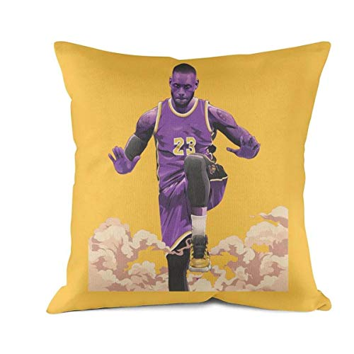 JHGFFD Cool Soft Home Decorative 18 x 18 Inches 45cm x 45cm Square King The Goat #23 Player Throw Pillow Cover Cushion Case for Couch Sofa Car Bedroom ()