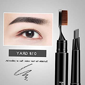 Amazon.com : Kaputar Brush Head Auto Dual Head Eyebrow Pencil ...