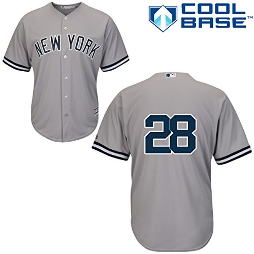 Joe Girardi New York Yankees Road 2015 Replica Cool Base Jersey Number Only by Majestic Select Size: Medium