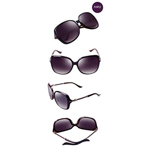 Visage Lunettes Rond Taille Big Purple Strass polariseur Soleil HD TangMengYun Mode de Frame Femmes 7wqpznI