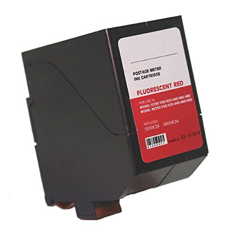 Neopost ISINK34 - 90 Day Warranty - Compatible Surejet #4135554T Red Ink Cartridge for IS / IN Series Mailing Systems (Neopost Is 300 Ink Cartridge)