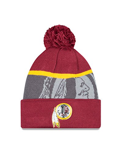 11186400 Unisex talla oro equipo Beanie color Red única NFL colección Gray Knit 6Rqgqx