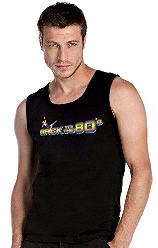 Back to the 80's ZURÜCK IN 80's Retro schwarze Top Tank T-Shirt -2117