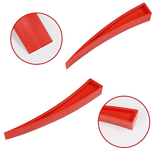 JMgist Dent Repair Tools Kit Window Guard with Felt Red Wedge and S-Hook for Car Paintless Dent Removal by JMgist (Image #6)