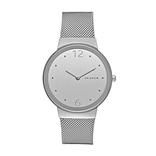 (Skagen Women's Freja Quartz Stainless Steel Mesh Casual Watch, Color: Silver-Tone (Model: SKW2380))
