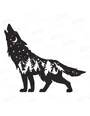 NBFU Decals Mountain Scene Wolf Wildlife Pine Tree Star 2